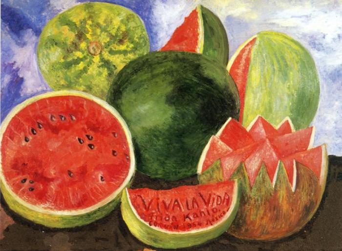 Frida-Kahlo-Viva-la-vida-1954