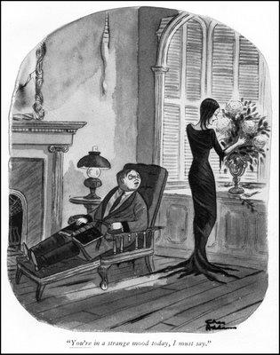 Gomer e Morticia. ©Tee e Charles Addams Fondation