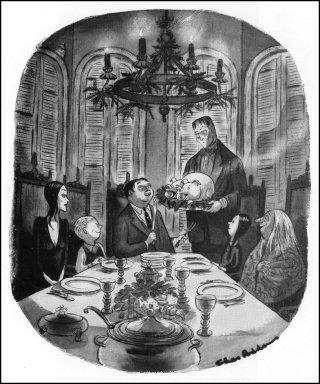La famiglia Addams. ©Tee e Charles Addams Fondation